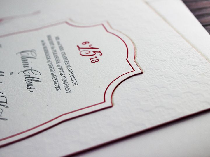 Tmx 1390946969569 Mcgoldrickinvite Minneapolis wedding invitation