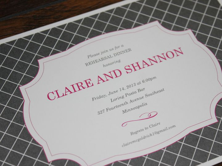 Tmx 1390947143348 Mcgoldrickrehearsal Minneapolis wedding invitation