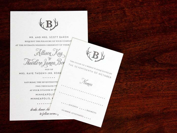 Tmx 1391192308080 Allisonbaron Minneapolis wedding invitation