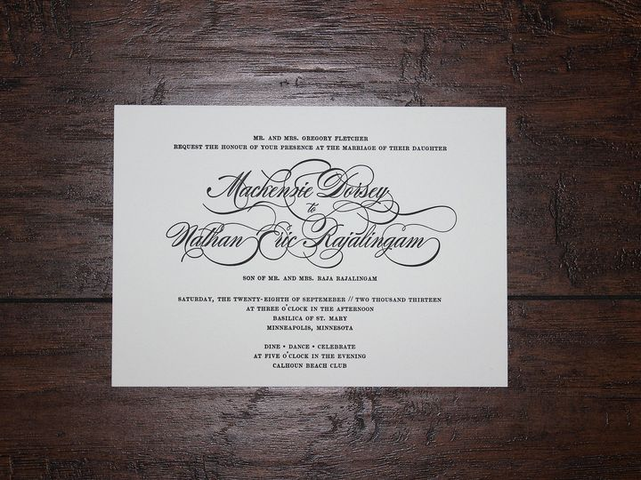 Tmx 1391198919487 Flettcher Minneapolis wedding invitation