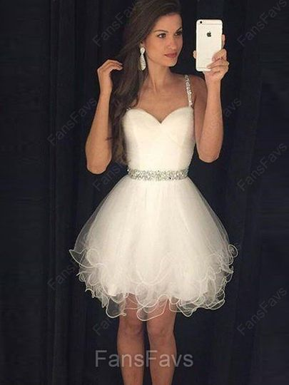 White Homecoming Dress