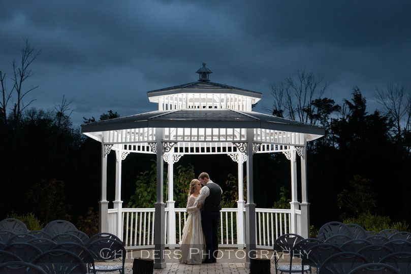 Couple in the gazebo