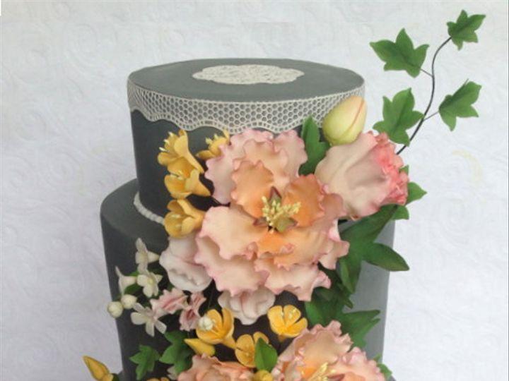 Tmx 1382469152701 Peachgreycake Mendocino wedding cake