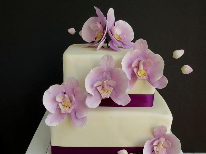 Tmx 1382469641784 Orchidcakecc Mendocino wedding cake