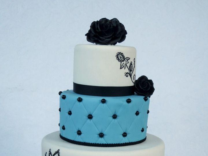 Tmx 1382469721903 Blackrosecake Mendocino wedding cake