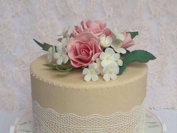 Tmx 1382469772314 Vintagecake Mendocino wedding cake