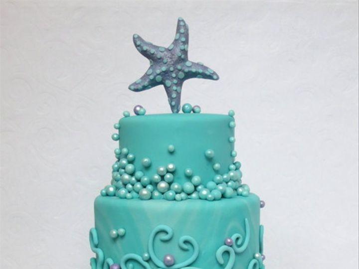 Tmx 1382469789903 Tealmermaidcake Mendocino wedding cake