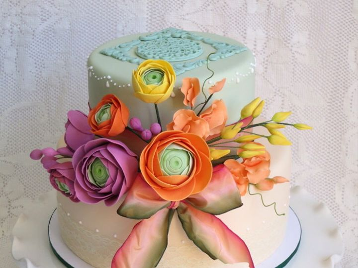 Tmx 1382469852378 Ranuculuscake Mendocino wedding cake