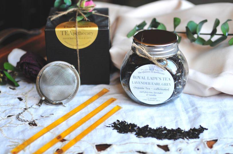 TEA JAR FAVORS w/ tea ball