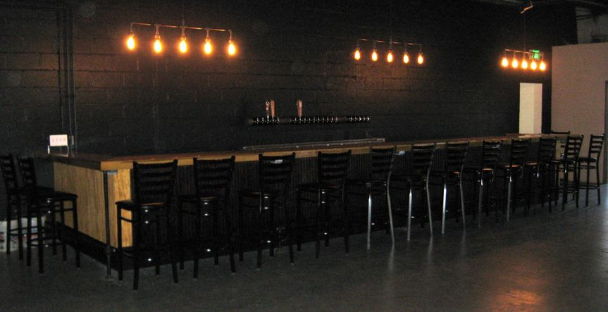 tasting room bar and chairs