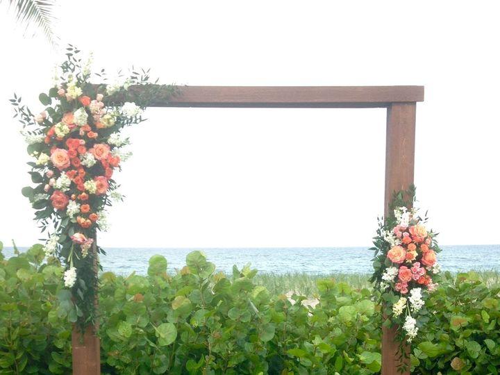 Tmx 1465839825301 Rustic Wood Arbor With Free Spirit Spray Roses Sto Stuart, FL wedding florist