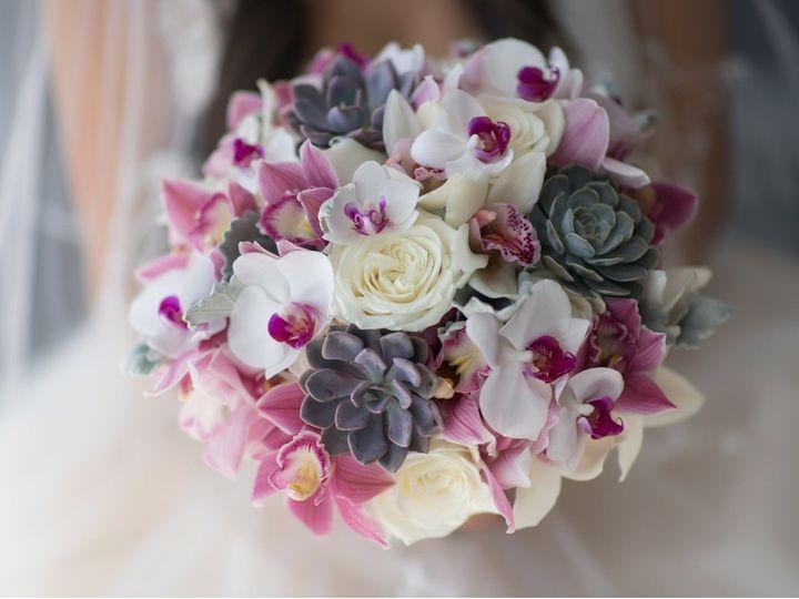 Tmx Bouquet White Roses Pink And White Cymbidium Phals Succulents 2 51 703664 158981812462892 Stuart, FL wedding florist