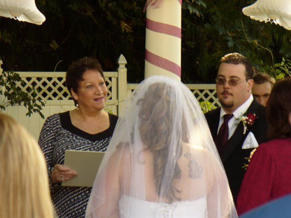 Bride by the altar