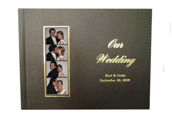 Personalized guest book with photo strips and comments from your guests.  Copies of the photo strips...