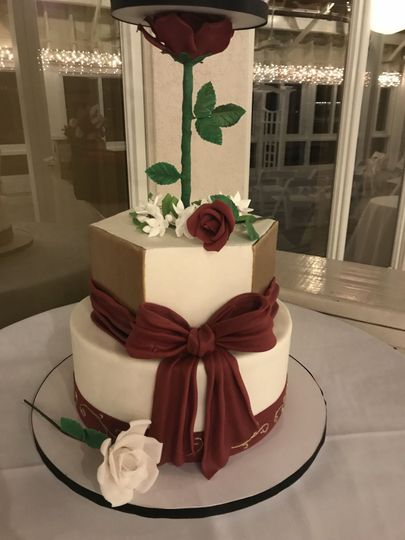 Tall close up cake