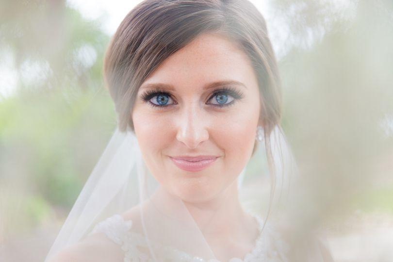 Dramatic Eyes bridal Portrait