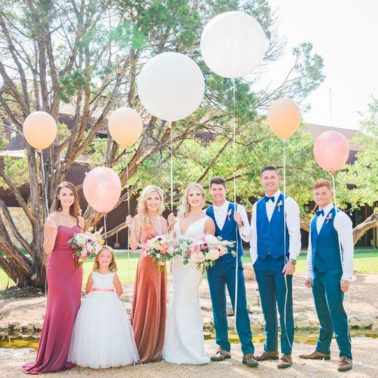 Western Sky Wedding party