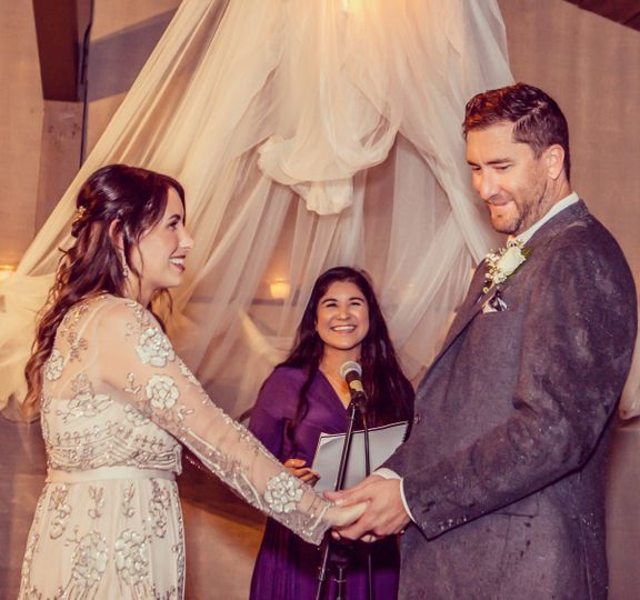 Officiant heading the ceremony   Photo by Fiona Image