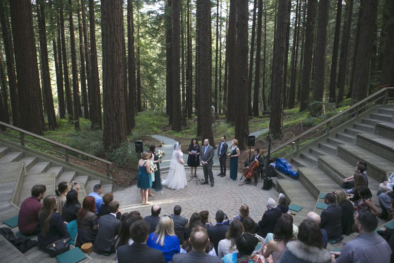 Wedding in the woods   Photo by Plumberry Photography