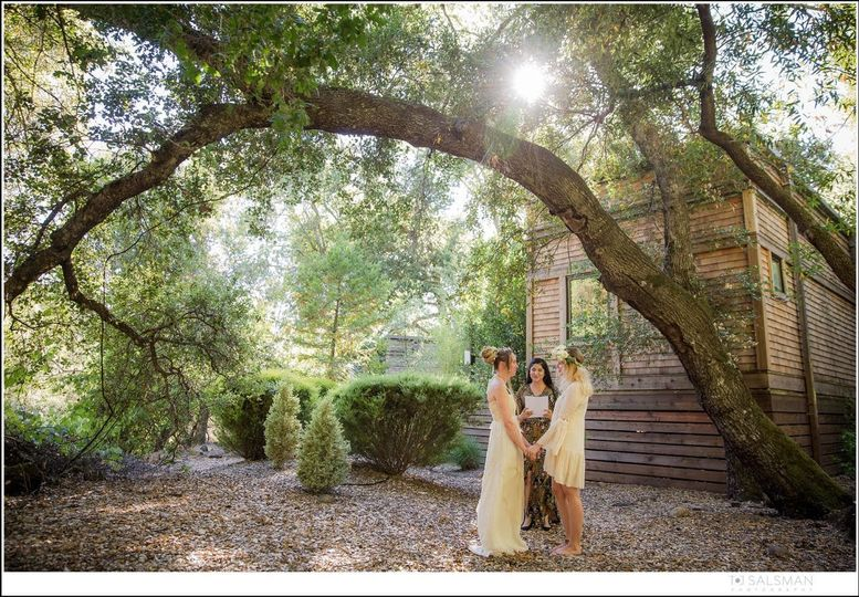 Wedding in the woods   Photo by TJ Salsman Photography