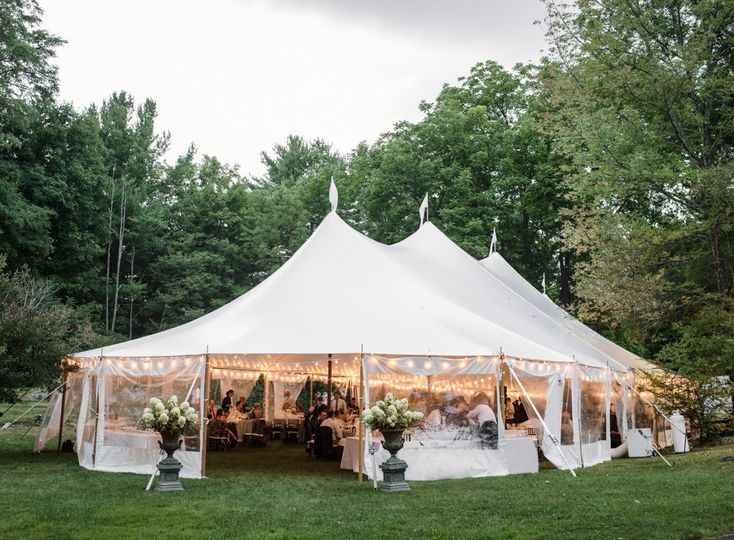 Marquee tent wedding reception