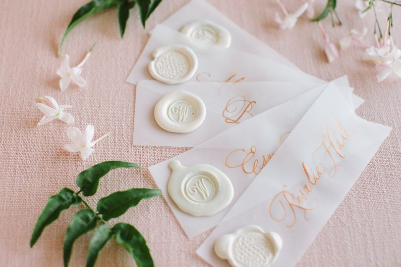 Place Cards - Vellum with Wax