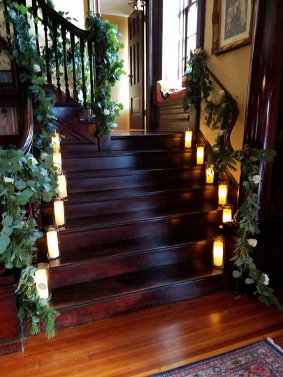 Lighted stairs
