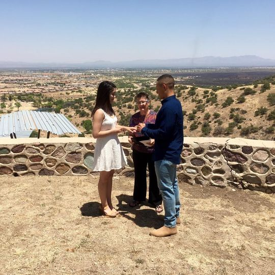 A couple wed at ft huachuca on resevoir hill