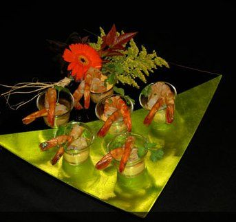 Tequila lime prawn appetizer