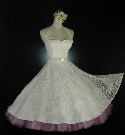 Strapless Silks Shantung Tea Length 50's Vintage Style Dress With Silk Blend Leopard Motif Overskirt...