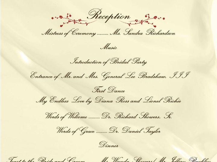 Tmx 1351194271179 ShowersBradshawReceptionProgramrev5copy Harvest wedding invitation