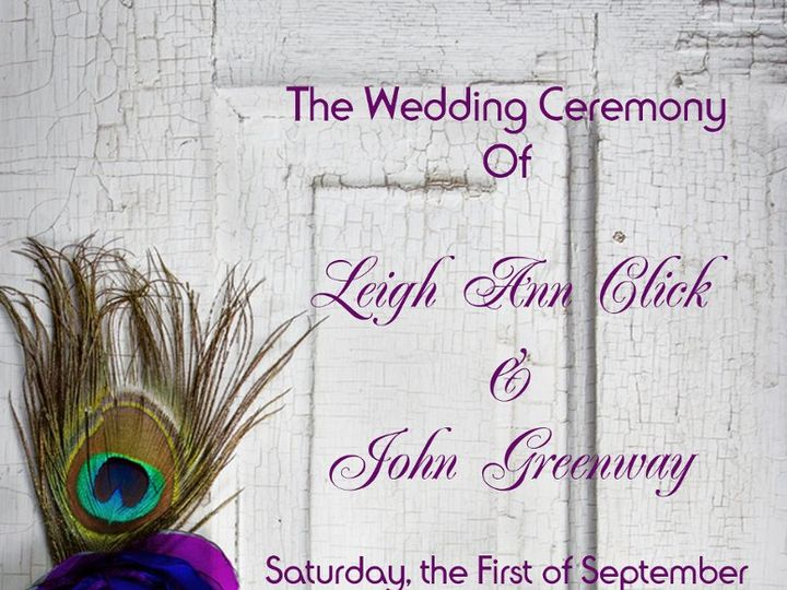 Tmx 1351194774928 Clickgreenwayprogramfrontcovercopy Harvest wedding invitation