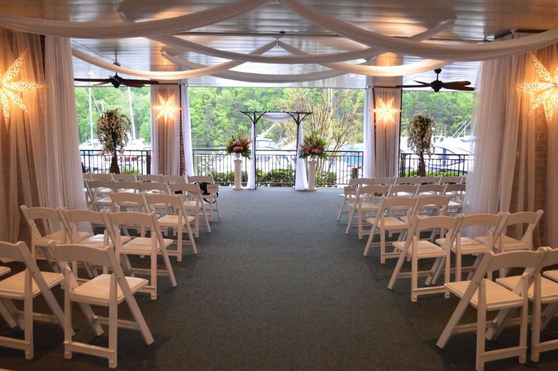 Intimate ceremony setup