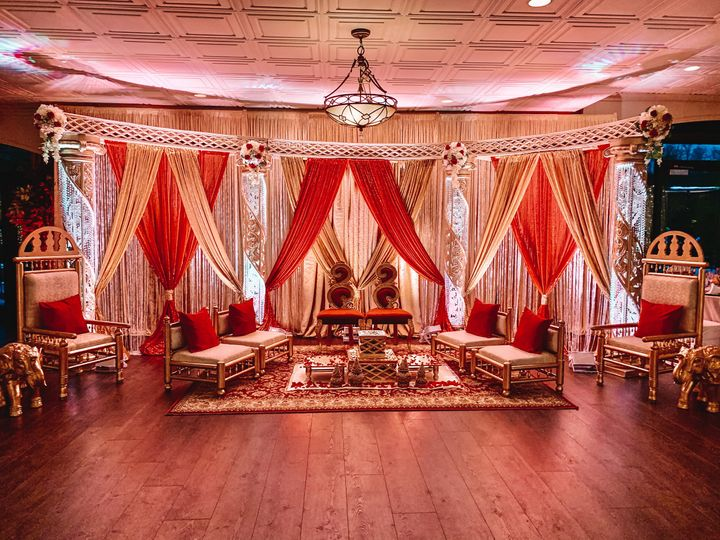 Mandap Set up in Sewall's Poin