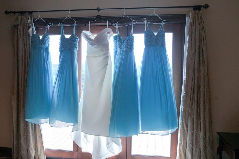 bridemaid dresses blue