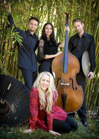 Allegato World Jazz Quartet Photo by PattiAndrePhotography,com Garden of Private Home, Rancho Santa...