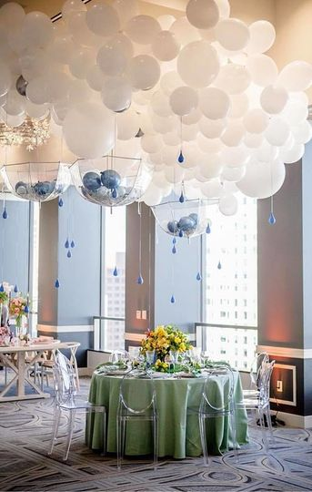 Balloons over the head table
