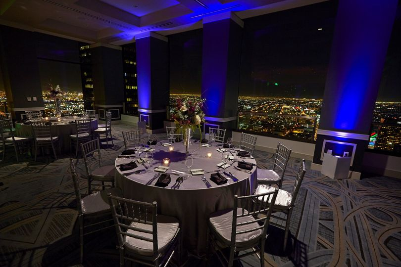 Night view in the ballroom