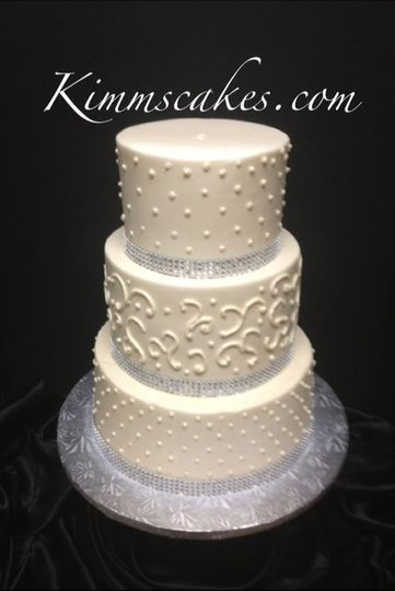 rhinstone wedding cake