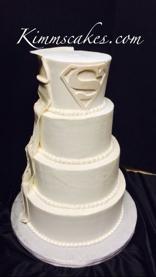 All White Superman cake