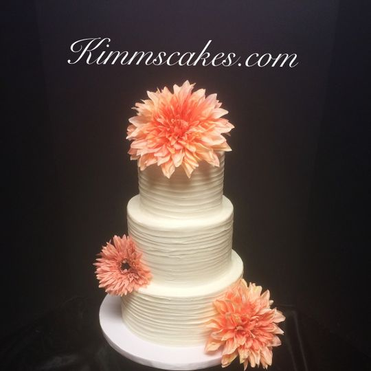 rustic buttercream with faux flowers