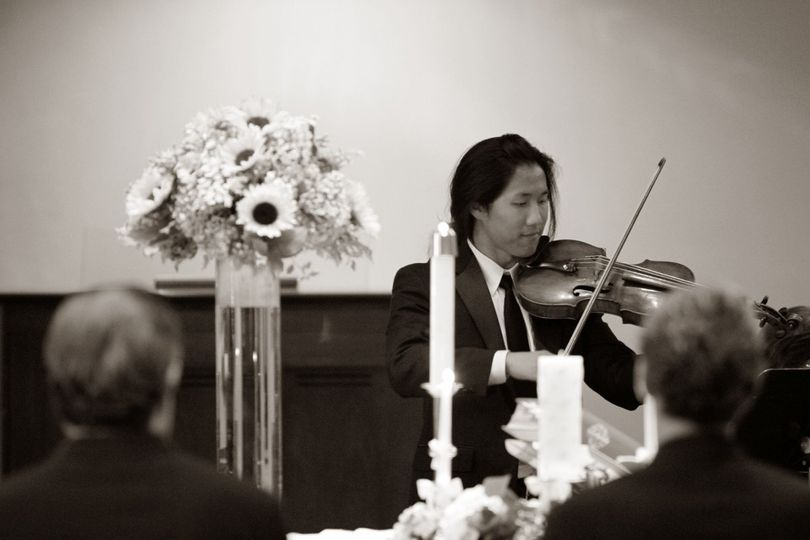 Violinist in a suit