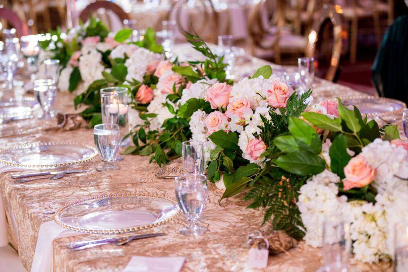 Reception table set