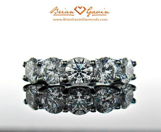 Tmx 1257435461935 5stoneBand1 Houston wedding jewelry