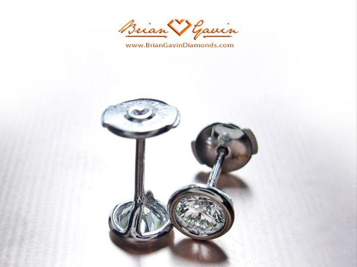Tmx 1257435543935 BrianGavinBezelEarrings1090909 Houston wedding jewelry