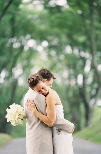Outdoor embrace