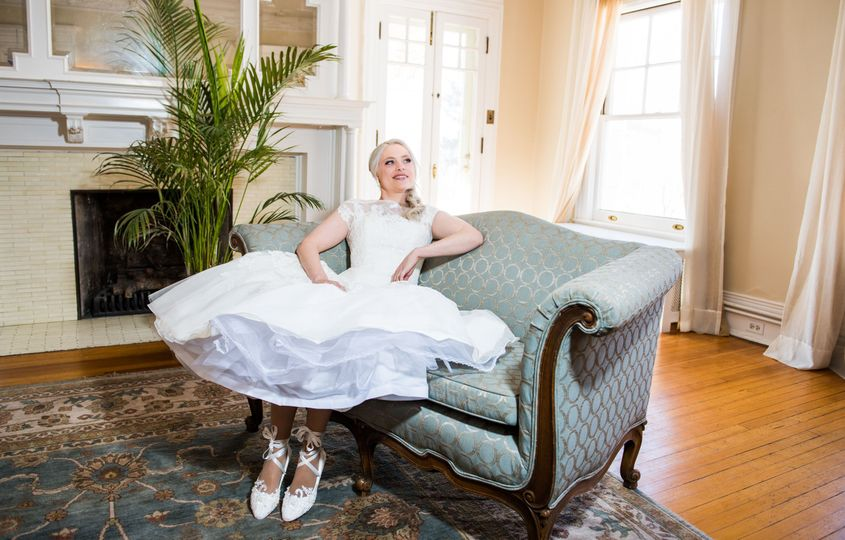 Bride lounging in style