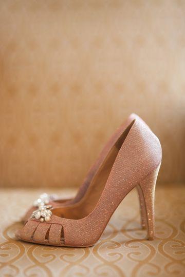 Pink wedding heel
