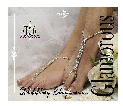 Tmx 1424112556421 Sj1 L2 Rhinestone Glamorous Bridal Barefoot Sandal Mooresville wedding dress