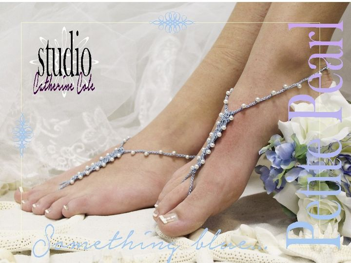 Tmx 1424112642618 Bf4 Blue Petite Pearl Crochet Barefoot Sandals Wed Mooresville wedding dress